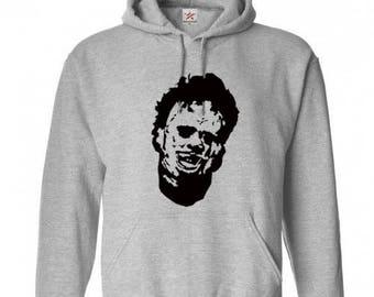 Leatherface Texas Chainsaw Massacre Unisex Hoodie Pullover Hooded Sweatshirt Many Sizes Colors Custom Horror Halloween Merch Massacre