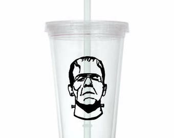 Frankenstein Monster Horror Tumbler Cup Gift Home Decor Gift for Her Him Any Color Personalized Custom Merch Massacre