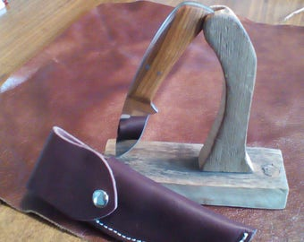 Cocobolo mirror polished Skinner,Amish handmade sheath.