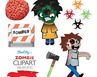zombie clipart, zombie apocalypse clipart, zombie clipart, zombie graphic, Halloween clipart, Cute Clipart, Commercial Use, instant download