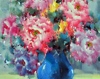 Oil painting, painting as a gift, Flowers, painting on canvas, art by own hands, art on canvas, Picture on the wall, picture on the holiday
