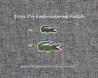 Emblem Iron On Patch Crocodile Patch Badge Top-quality Fashionable Patch Embroidered Patch For T-Shirt/Clothing/Hat   #D8b