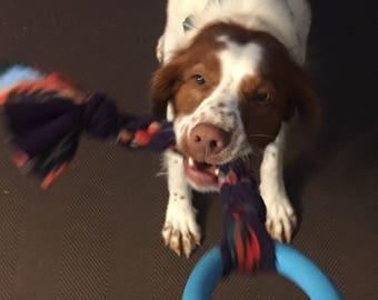 Extra Strong Fleece Ring Tug - Large (Dog Toy)