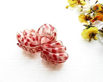Red Hair Jaw Claw Clip French Clips Pin Comb Acrylic Plastic Celluloid Acetate Accessories Trendy Jewelry Hair Bun Holder Maker Barrette