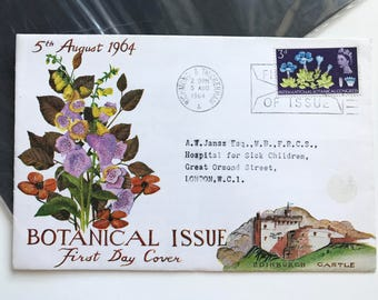 1964 First Day Of Issue of Botanical Congress Stamp on special envelope Botanical Issue First Day Cover