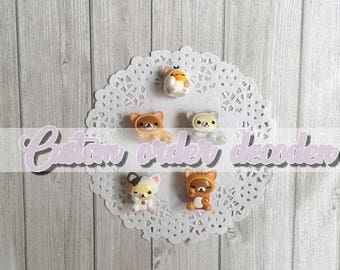 Decoden custom case [Made to order] - Neko Rilakkuma, Rorilakkuma, Kiiroitori