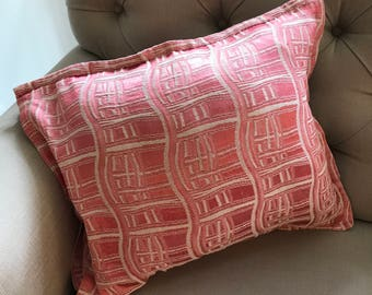 Pale Pink Damask Cushion Cover circa 1950's