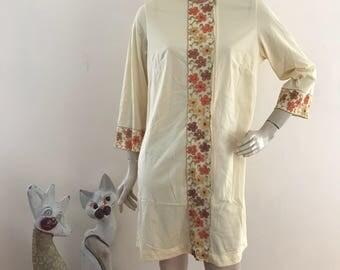 Gossard Artemis Embroidered Zip Up Robe Gown S/M