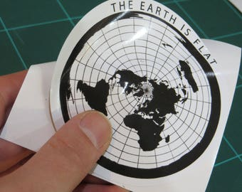 6 x Flat Earth Bumper Stickers