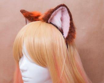 Baby Red Fox Fur Ears Headband