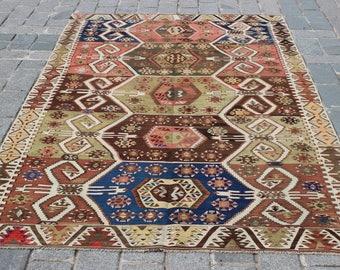 "Turkish Antique Kilim Rug, 9""x5.2""Feet,275x160 cm,Decorative Anatolian Kilim Rug,Ethnic Rug,Vintage Home Decor,Kilim,Rugs"