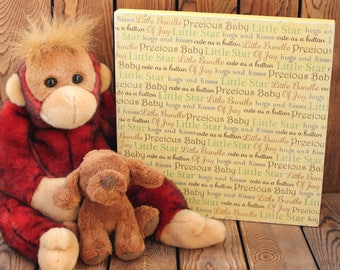 Baby Shower Gift,Nursery Wall Art,Nursery Wall Decor,Baby Boy Gift,Baby Girl Gift,Quotes On Wood,Wall Art Quotes,Wood Signs,Nursery Quotes
