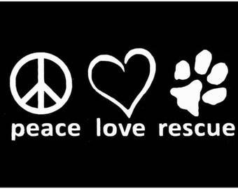 Pet Rescue Mug, Handpainted, Proceeds Help Rescues