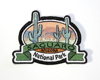 Official Saguaro National Park Souvenir Patch Arizona Cactus Iron-on FREE SHIPPING Scrapbooking