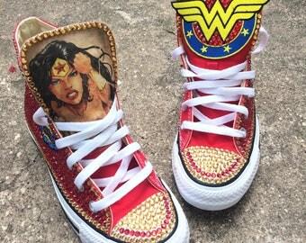 Custom Wonder Woman Chuck Taylor Converse