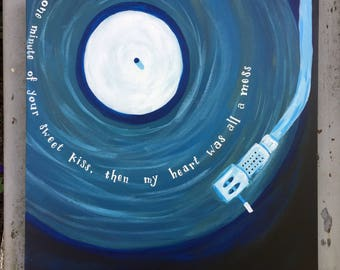 Your Sweet Kiss - Buddy Holly Lyric Painting