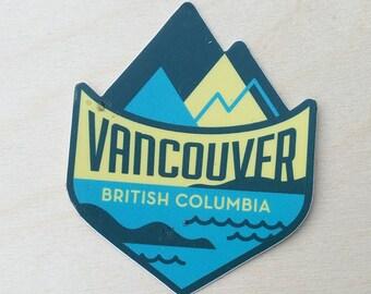 Vancouver British Columbia Travel Sticker