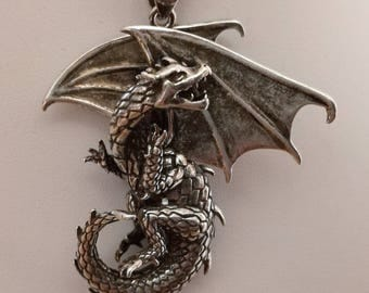 Dragon in silver 925 metal