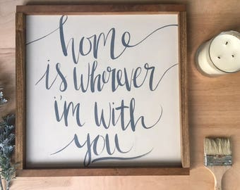 Home Sign | Hand Lettering on Wood