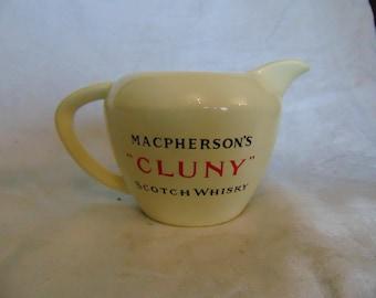 "Vintage Macphersons ""cluny"" scotch whisky jug"
