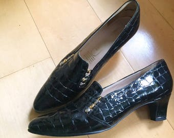 60s patent leather shoes from England, never WORN!
