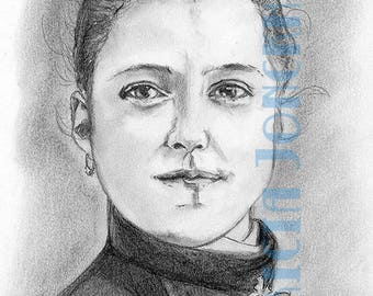 Portrait of St Therese of Lisieux aged 15 years