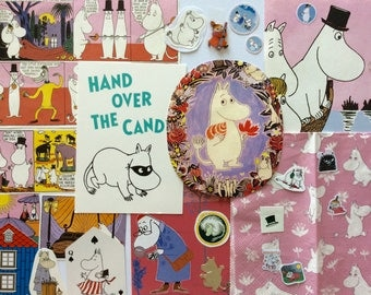 MOOMIN MANIA craft pack - vintage, contemporary and collectible ephemera, scrap pack, Tove Jansson