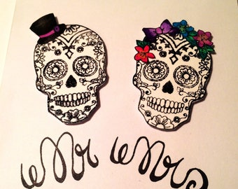 Sugar Skull Wedding Card Alternative Wedding Gift