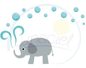 Vegan stickers, labels, elephant water, bubbles, to the label itself, address, sender, DIY craft, 10 pieces, 5.2 cm x 7.4 cm