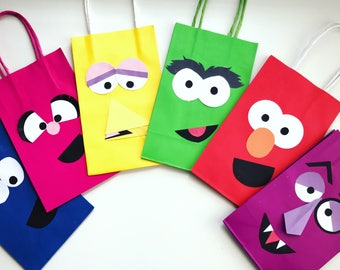 Sesame Street party favor bags!