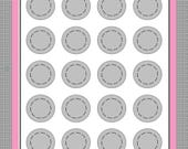 1.25 inch circle template - digital download - Your artwork for bezels and button machines - Photoshop needed - Circle Template Your designs
