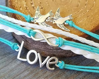 Love with Two Doves bracelets