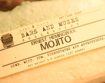 Ernest Hemingway | Mojito | Bars and Muses | Artisan Soap | Handcrafted Soap