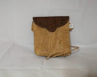 Clutch in Brown Cork