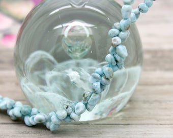 Larimar Small Chip Gemstone Beads Full Strand for Jewelry Making