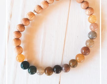 rose wood & agate