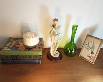 Vintage retro ceramic woman figurine statue