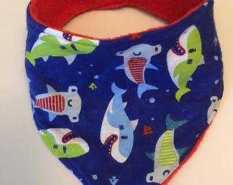 Shark bandana bib