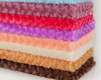 Soft Pile, Plush & Fluffy Fabric, Rose Flower Texture, Photography Material, Quality Fabric and Material, Sewing and Crafts, Neotrims