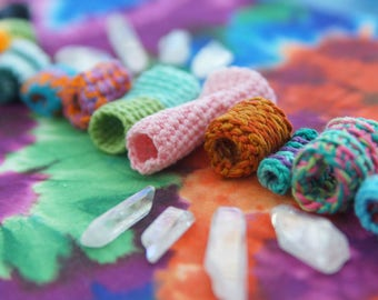 Crochet Soft Fabric Dreadlock Beads
