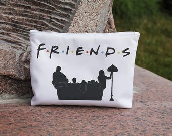 Friends Cosmetic Bag Makeup bag Zipper pouch Accessory bag Travel bag Pencil Case Toiletry bag Cosmetic Case
