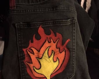 handpainted jeans