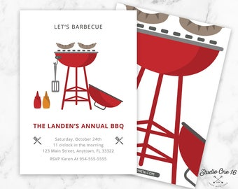 BBQ Invitation, BBQ Birthday, bbq Party, Barbeque Invitation, Barbecue Invitation, Barbecue Party, Backyard BBQ, Backyard Barbecue, Grill