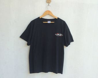 Vintage 90's Black Fila Big Logo Nice Design