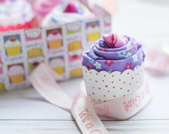 Baby Shower Gift. 8 Bodysuits 4 Socks, Cupcake ONESIE® Set. Boy, Girl or Gender Neutral ONESIES®