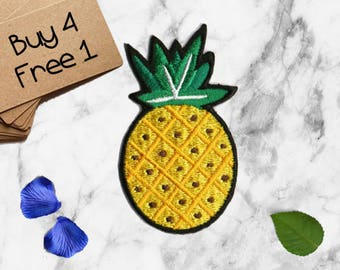 Pineapple Patch Fruit Patches Iron On Embroidered Patches