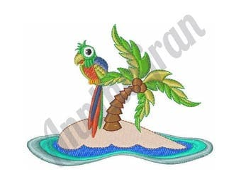 Parrot Island - Machine Embroidery Design