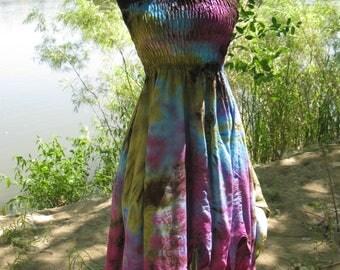 Tie Dye Petal Dress