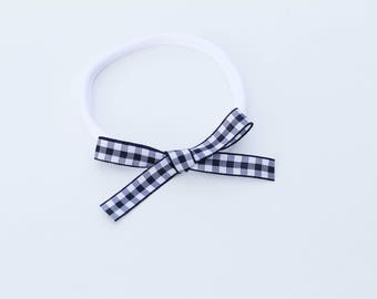 School Girl Bow - Black and White Collection