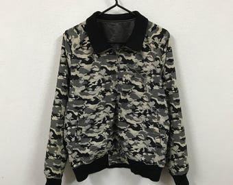 Puma Reversible Camouflage Bomber Jacket